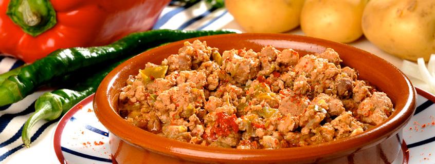 Hígado de pato Agerria, cocinado con pimiento de Ezpeleta
