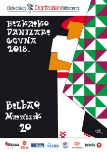 Dantzaris en la Gran Vía de Bilbao